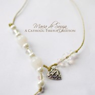 Holy Cross Heart Beaded Bookmark