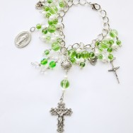 Green Crucifixion Bracelet