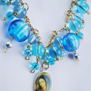 Our Lady of Guadalupe Beautiful Blue Necklace