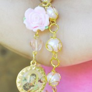 Pink Our Lady of Perpetual Help Bracelet