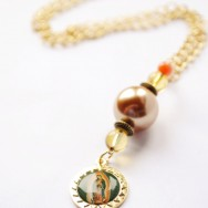 Long, Gold Our Lady of Guadalupe Necklace