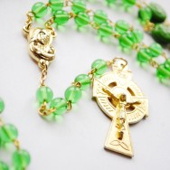Green and Gold Irish Rosary