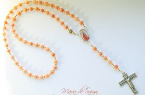 Jade Pastel Peachflower Our Lady of Guadalupe Rosary