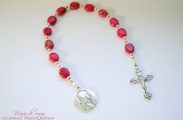 Deep Rose Terra Jasper One Decade Rosary