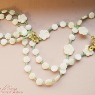 Sea Shell Green Aventurine Rosary