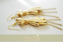 Chunky Gold Dangle Earrings